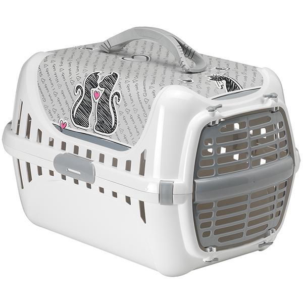 Moderna Trendy Runner Cats In Love - переноска для котов c пластиковой дверцей