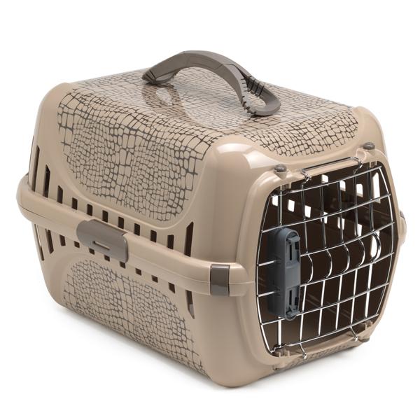 Moderna Trendy Runner Wild Life IATA - переноска для кошек c металлической дверцей и замком IATA, дизайн Дикий Мир