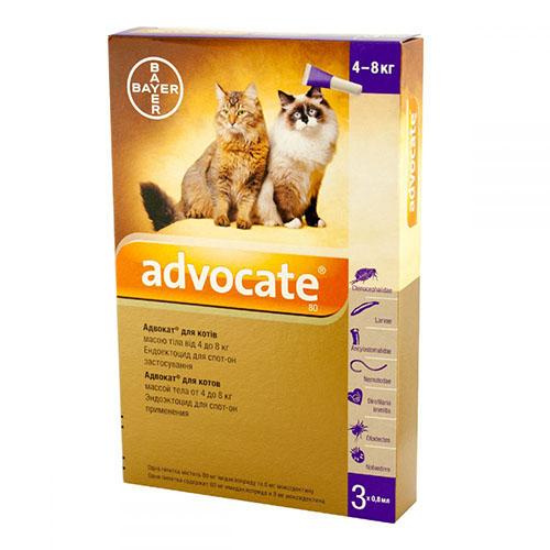 Advocate (Адвокат) капли для кошек весом от 4 кг до 8 кг