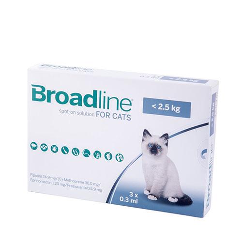 Бродлайн (BROADLINE) спот-он для кошек до 2,5 кг
