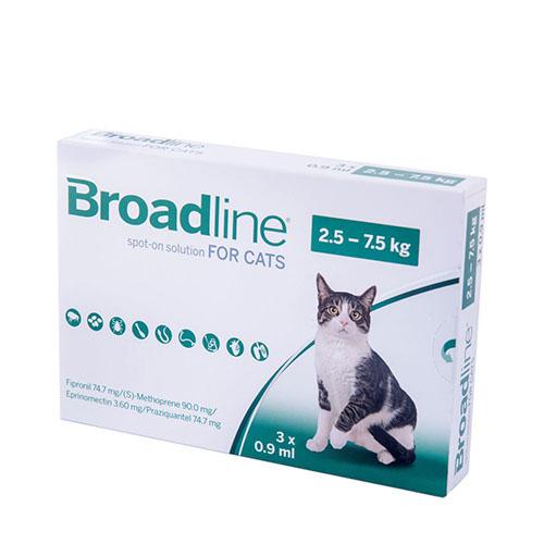 Бродлайн (BROADLINE) спот-он для кошек до 2,5-7,5 кг (L)