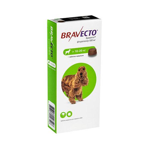 Bravecto (Бравекто) Таблетки от блох и клещей для собак весом от 10 до 20 кг