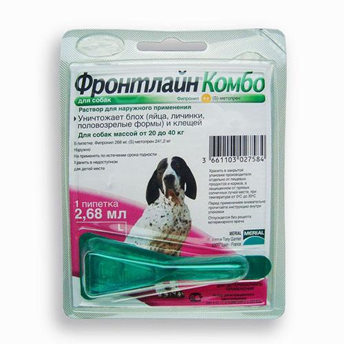 Фронтлайн Комбо Спот - ОН монопипетка для собак 20-40 кг (L)
