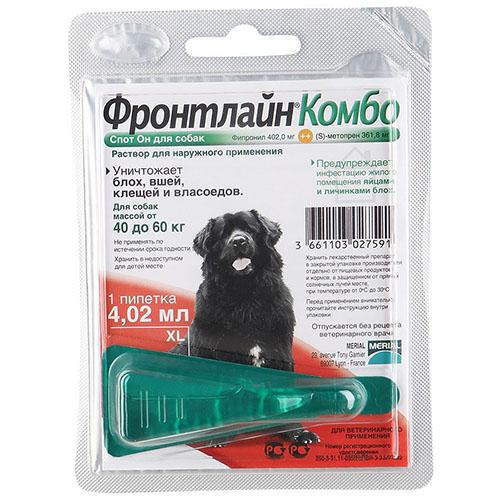 Фронтлайн Комбо Спот - ОН монопипетка для собак 40-60 кг (L)