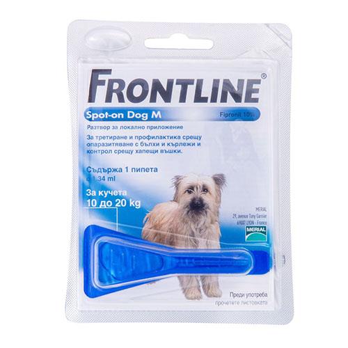Фронтлайн Спот - ОН (Frontline spot-on) монопипетка для собак 10-20 кг (M)