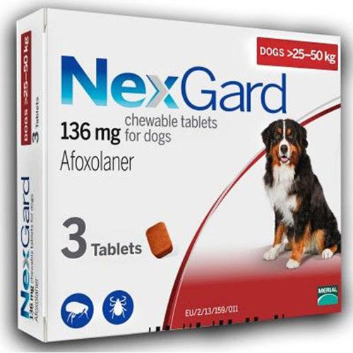 Нексгард (NexGard) 25-50 кг таблетка от блох и клещей
