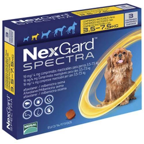 Нексгард Спектра (NexGard Spectra) 3,5-7,5кг (S) таблетка от блох и клещей
