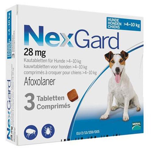 Нексгард (NexGard) 4-10 кг таблетка от блох и клещей