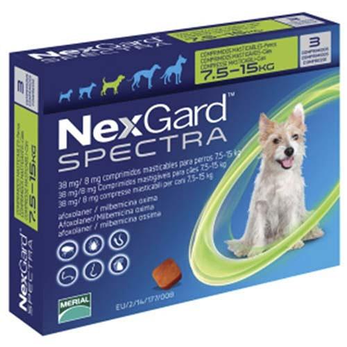 Нексгард Спектра (NexGard Spectra) 7,5-15 кг (М) таблетка от блох и клещей