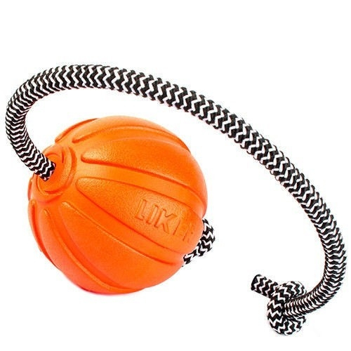 Мячик ЛАЙКЕР7 Корд на шнуре, диаметр 9 см