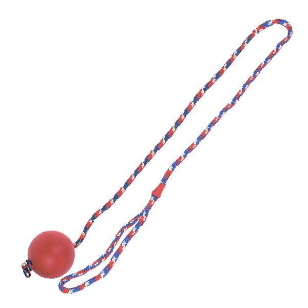 Flamingo Ball With Rope - Фламинго игрушка для собак, мяч из литой резины на веревке