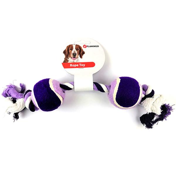 Flamingo Cotton Rope Duotennis - Фламинго котон роуп дуотеннис канат с двумя мячами игрушка для собак