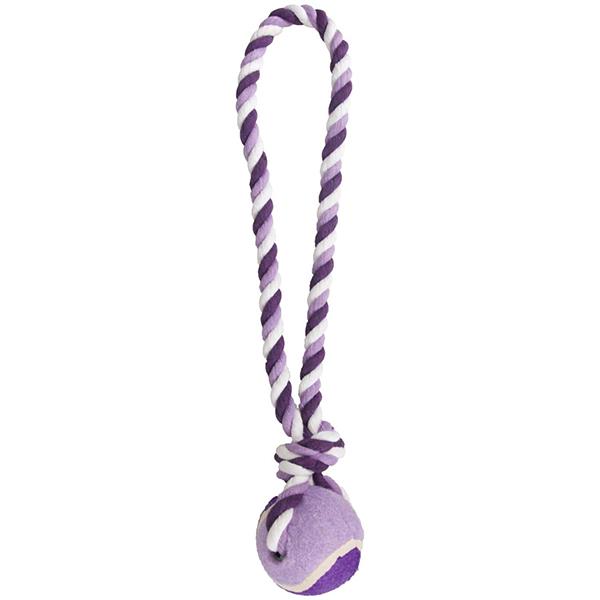 Flamingo Cotton Rope With Tennis Ball - Фламинго коттон роуп мяч на канате игрушка для собак