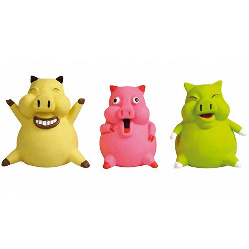 Flamingo PIG SMILEY - Фламинго игрушка для собак малых пород, улыбающийся поросенок, с наполнителем, латекс