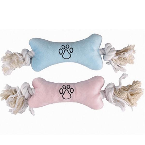 Flamingo Puppy Plush Bone - Фламинго мягкая игрушка для щенков, плюшевая кость на канате