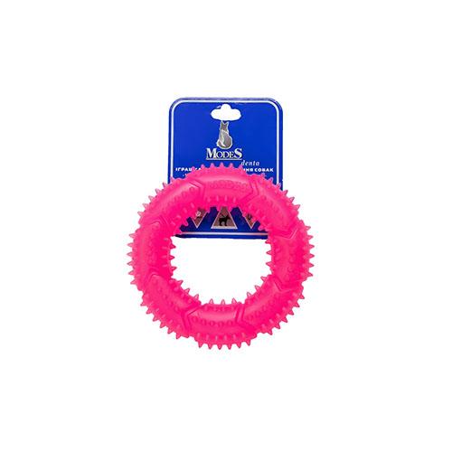 Кольцо MODES Denta розовое, игрушка для собак