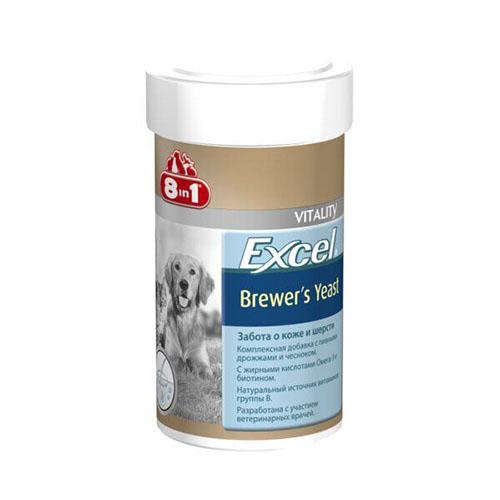 8in1 Vitality Excel BREWERS YEAST пивные дрожжи с чесноком (Германия) для котов и собак