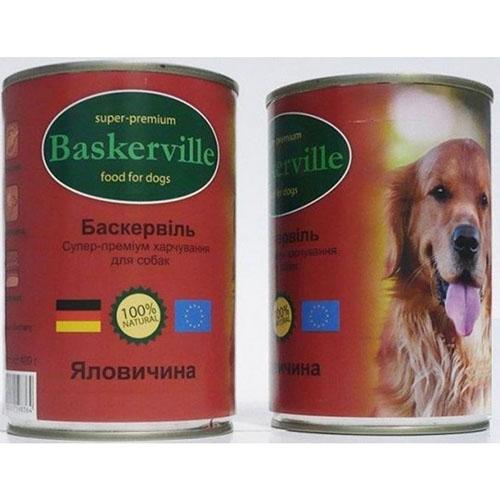 Baskerville Консервы для собак. Говядина
