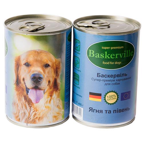 Baskerville Консервы для собак. Ягненок и петух