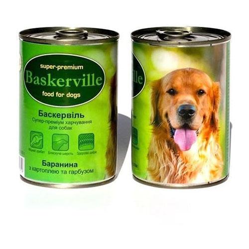 Baskerville Консервы для собак. Баранина с картофелем и тыквой