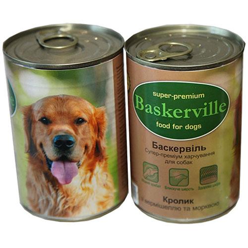 Baskerville Консервы для собак. Кролик с лапшой и морковью