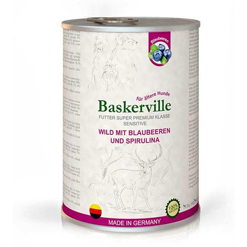 Baskerville HF Sensitive Wild Mit Blaubeeren und Spirulina. Оленина с черникой и спирулиной
