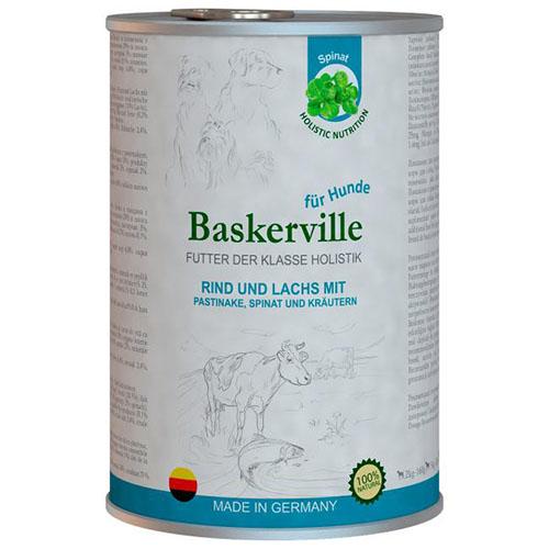 Baskerville HF Holistic Rind und Lachs. Говядина, лосось и шпинат для собак