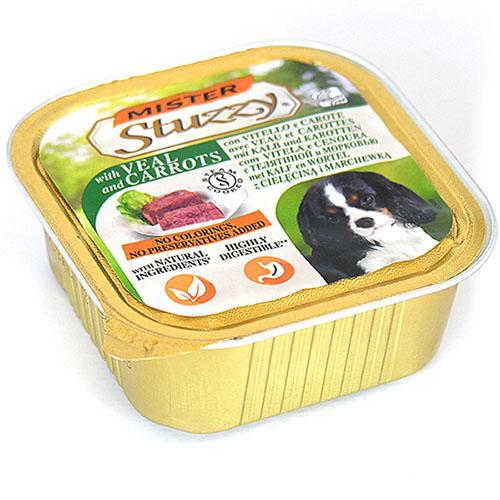 Mister Stuzzy Dog Veal Carrot МИСТЕР ШТУЗИ ТЕЛЯТИНА МОРКОВЬ корм для собак, паштет