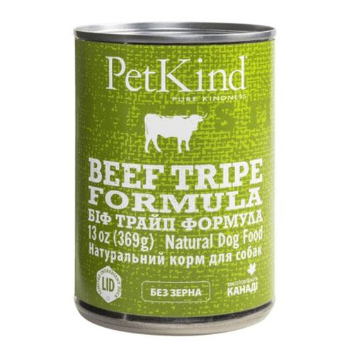 PETKIND БИФ ТРАЙП ФОРМУЛА консервы для собак с говядиной и рубцом