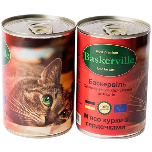 Baskervillе Корм для кошек Мясо курицы с сердечками