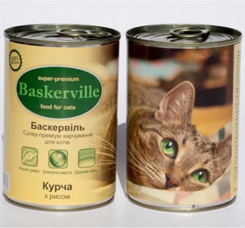 Baskerville Корм для кошек Цыпленок с рисом