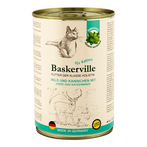 Baskerville KF Holistic Wild und Kaninchen. Оленина с кроликом и мятой для кошек