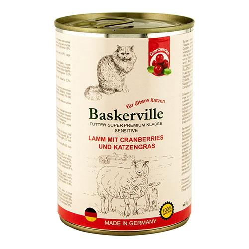 Baskerville KF Sensitive Lamm Mit Preiselbeeren. Ягненок с клюквой и кошачьей мятой