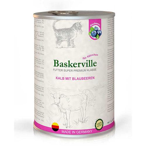 Baskerville KF Super Premium Kalb Mit Blaubeeren. Телятина с черникой для котят