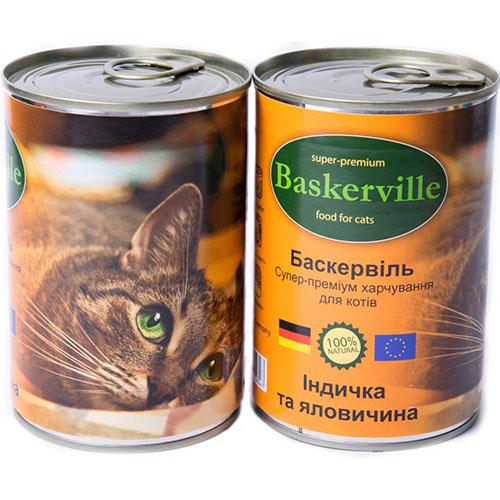 Baskerville Корм для кошек Индейка и говядина
