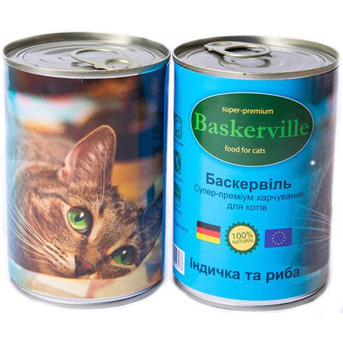 Baskerville Корм для кошек Индейка и рыба