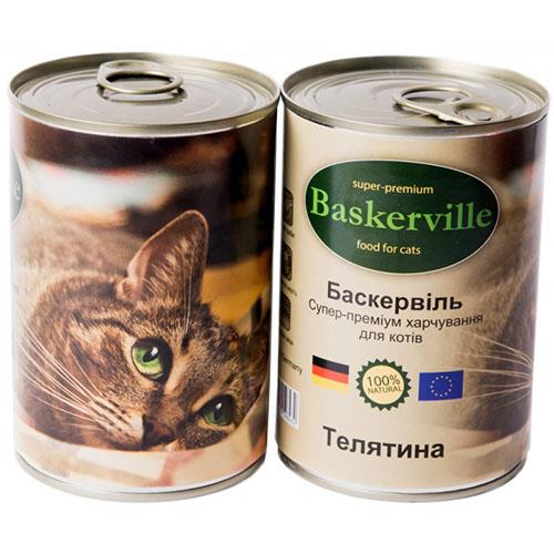 Baskerville Корм для кошек Телятина