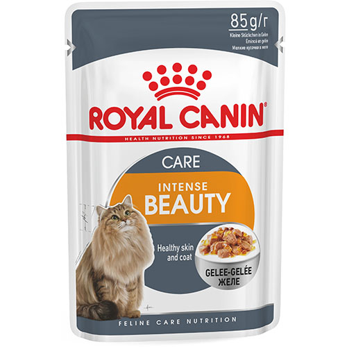 Royal Canin Intense Beauty in Jelly - корм Роял Канин красивая шерсть для кошек в желе
