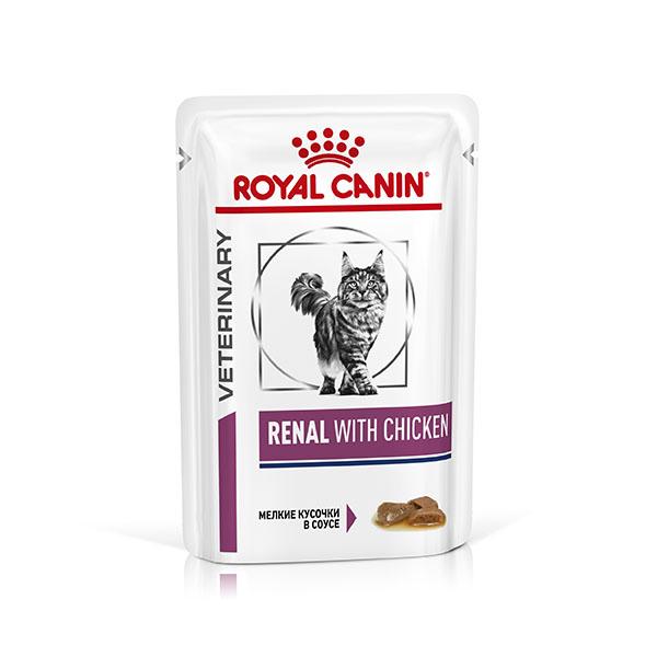 Royal Canin Renal Chicken - корм Роял Канин для кошек с почечной недостаточностью с курицей