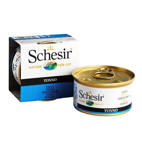 Schesir Tuna ШЕЗИР ТУНЕЦ натуральные консервы для кошек тунец с рисом