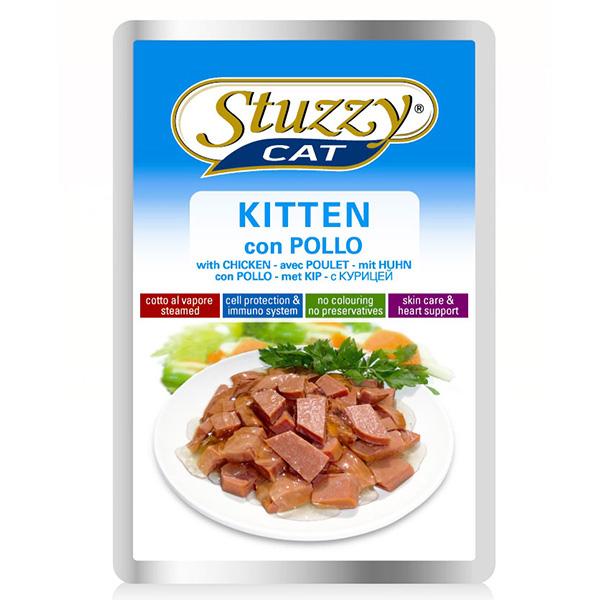 Stuzzy Cat Kitten ШТУЗИ КЕТ КОТЕНОК КУРИЦА в соусе корм для котят