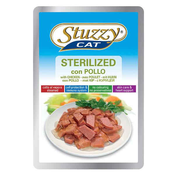 Stuzzy Cat Sterilized Chicken ШТУЗИ КЕТ СТЕРИЛАЙЗИД КУРИЦА в соусе корм для стерилизованных кошек