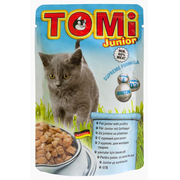 TOMi junior ТОМИ ДЛЯ КОТЯТ консервы для котят, влажный корм