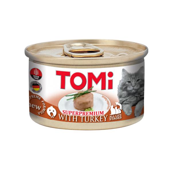 TOMi Turkey ТОМИ ИНДЕЙКА, консервы для котов, мусс